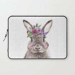 Bunny with flowers Laptop Sleeve