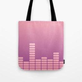 Pink Equalizer Tote Bag