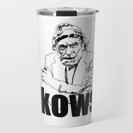 Charles Bukowski Drawing Travel Mug