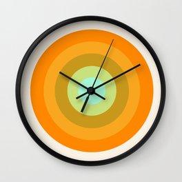 Slammin' - retro vibes 1970s style throwback bullseye circle infinity 70's Wall Clock