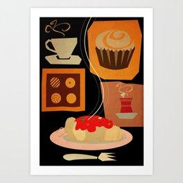 cafe poster Art Print