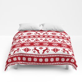 Christmas Holiday Nordic Pattern Cozy Comforters