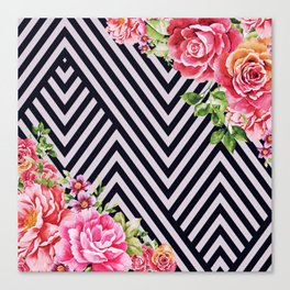 flowers geometric Canvas Print