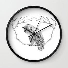 Owl In Tree (Print) Wall Clock