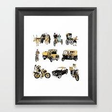 Indian Transportation Framed Art Print