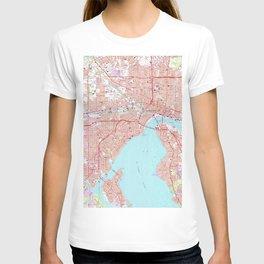 Vintage Map of Jacksonville Florida (1964) T-shirt