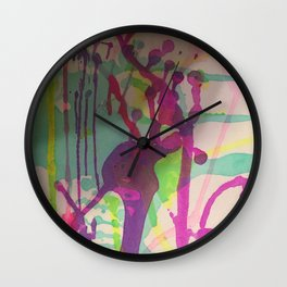 Water Color Frenzy Wall Clock