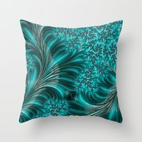 underwater Throw Pillows featuring Underwater by Steve Purnell