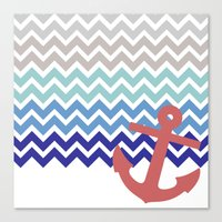 nautical Canvas Prints featuring Nautical  by emain
