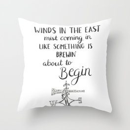Winds in the East Throw Pillow