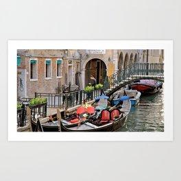 Gondolas at Rest Art Print