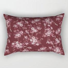 Pastel pink marsala red modern elegant roses floral Rectangular Pillow