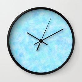 Powder Blue Sky Abstract Wall Clock