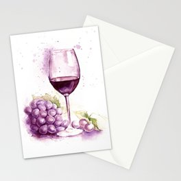 Glass of red wine Stationery Cards