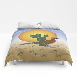 Soul of the Southwest - Roadrunner in the Desert Comforters