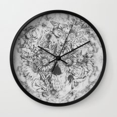 Bookmatched Skull Wall Clock