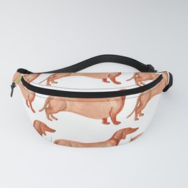 Watercolor Weenie Pattern Fanny Pack