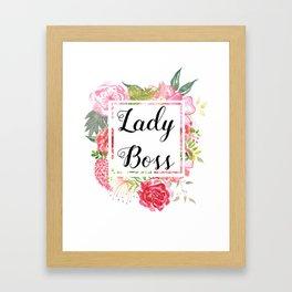Lady Boss Framed Art Print