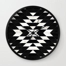 Urban Tribal Pattern No.14 - Aztec - Black Concrete Wall Clock