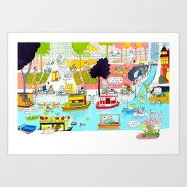 CYCLE CITY canal scene Art Print