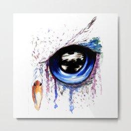 Owl Eye Art Metal Print