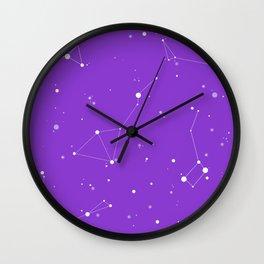 Ultra Violet Night Sky Wall Clock
