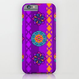 Fancy Colorful Mexico Inspired Pattern iPhone Case