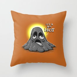 Mr. Melty Throw Pillow