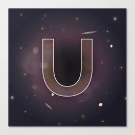 U is for Universe. Canvas Print