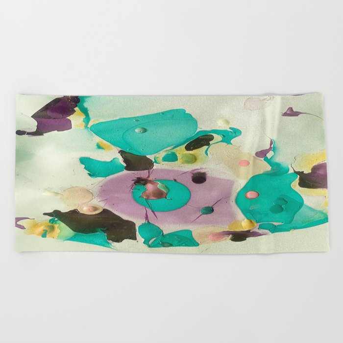 pastels Beach Towel
