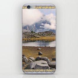 BLUE AND GOLD MOUNTAIN SOLITUDE iPhone Skin