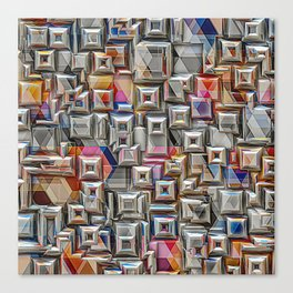 Geometric 3D Structure Canvas Print