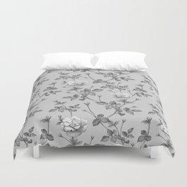grey rose Duvet Cover