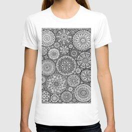 The Yin, Black Mandalas by Kent Chua T-shirt