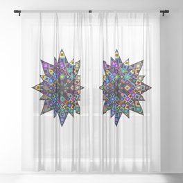 Starry Bursts Sheer Curtain