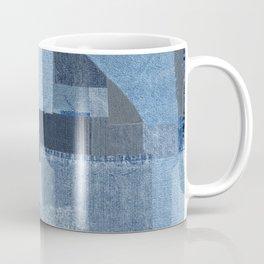 Boroboro Blue Jean Japanese Boro Inspired Patchwork Shibori Coffee Mug