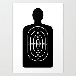 Human Shape Target Art Print