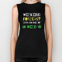 Weekend Forecast - 100% Chance of Weed Biker Tank