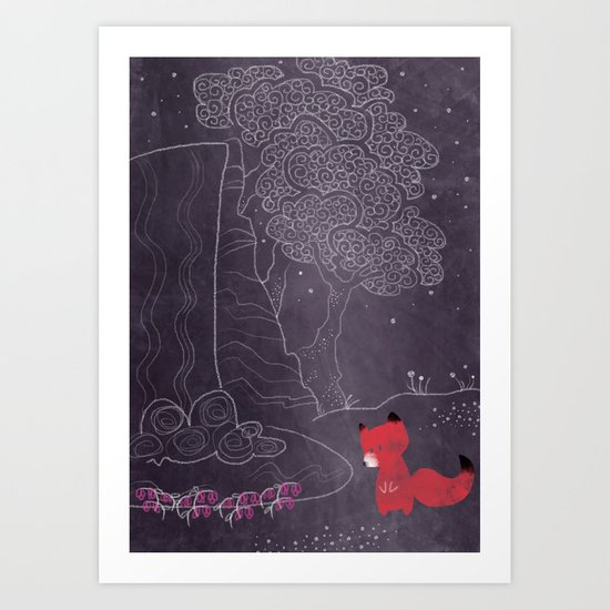 Purple on the lake Art Print