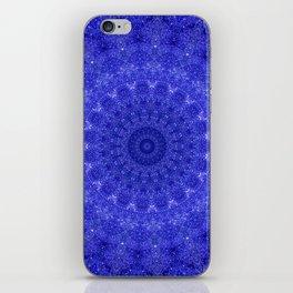 Cosmos Mandala II Cobalt Blue iPhone Skin