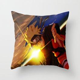 naruto spirit of fire Throw Pillow