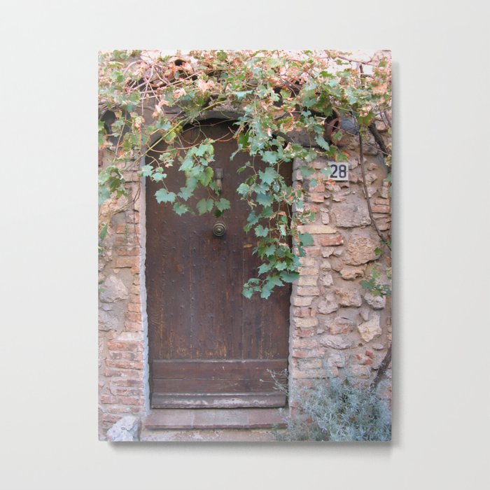 Secluded doorway Metal Print