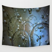 jewish Wall Tapestries featuring Voir le beau verre  by Brown Eyed Lady