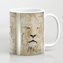 Lion Vintage Africa old Map illustration Coffee Mug