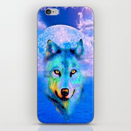 Wolf Moon and the Deep Blue Sea iPhone Skin