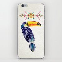 toucan iPhone & iPod Skins featuring toucan by Manoou