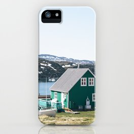 Coloured houses of Greenland iPhone Case