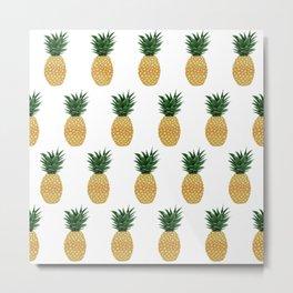Pineapples Everywhere! Metal Print