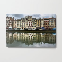 Reflections of Bayonne Metal Print