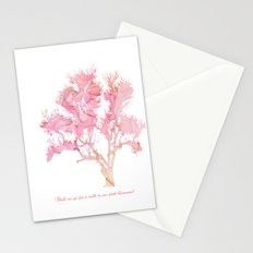 Pink Spring Blossoms Stationery Cards